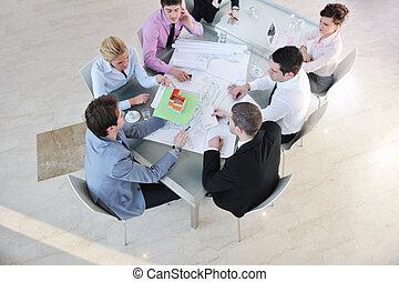 ミーティング, 建築家, ビジネス チーム