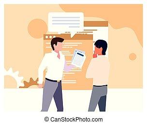 ミーティング, 研究, マーケティング, 計画, ビジネスマン