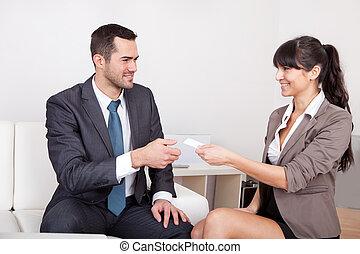 ミーティング, 2, ビジネス 人々