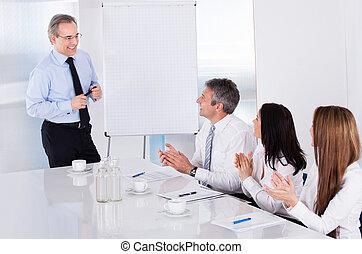 ミーティング, businesspeople