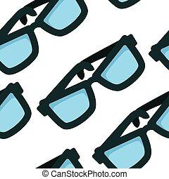 メガネ, パターン, eyewear, 付属品, seamless, ガラス
