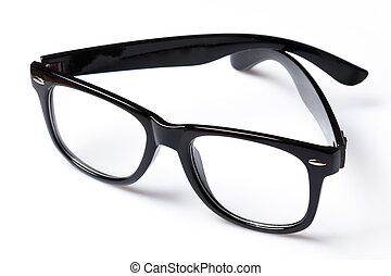 メガネ, 縁, 黒