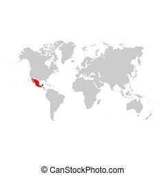 メキシコの地図, 世界