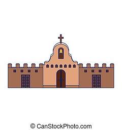 メキシコ人, デザイン, 隔離された, ベクトル, 教会