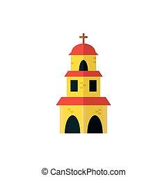 メキシコ人, 隔離された, ベクトル, デザイン, 教会
