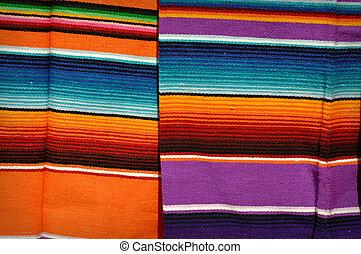 メキシコ人, mayan, 毛布, カラフルである