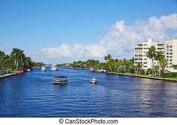メキシコ湾流, フロリダ, delray, del, 浜, 光線