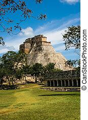 メキシコ\, ピラミッド, mayan, palenque
