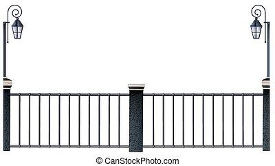 メタルフェンス, そして, 街灯柱