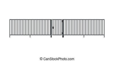 メタルフェンス, ∥で∥, 門