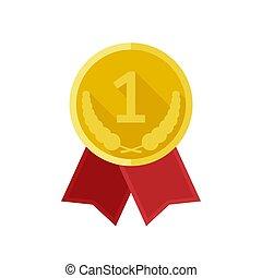 メダル, 賞, 金