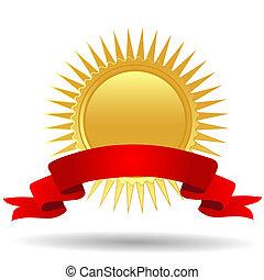 メダル, 金のリボン