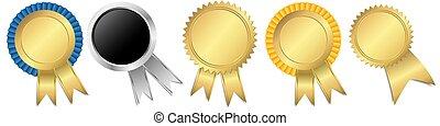 メダル, 金, テンプレート, セット