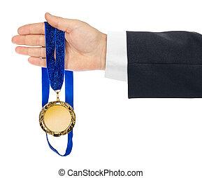 メダル, 金, 手