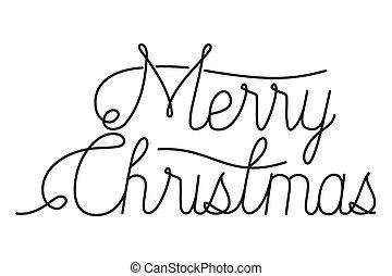 メッセージ, カリグラフィー, クリスマス, 陽気