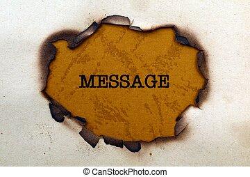 メッセージ, ペーパー, 穴