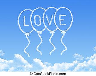 メッセージ, 愛, 雲, 形づくられた