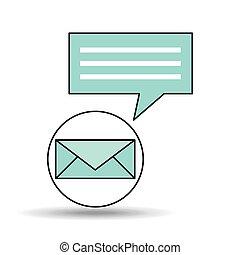 メッセージ, 概念, デザイン, 電子メール, チャット