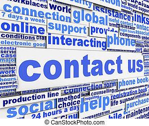 メッセージ, 概念, 私達, 連絡