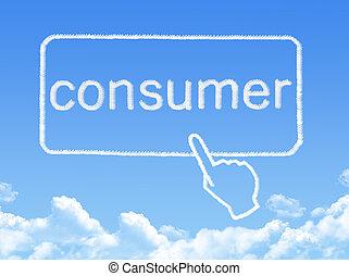 メッセージ, 消費者, 形, 雲