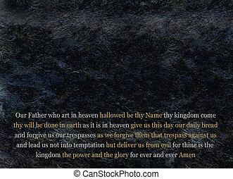 メッセージ, 祈とう, 板, lord's