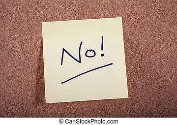 メッセージ, no!, noticeboard
