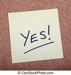 メッセージ, yes!, noticeboard