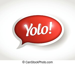 メッセージ, yolo, 泡, イラスト