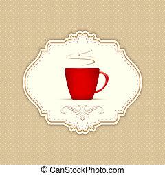メニュー, コーヒー, カフェ