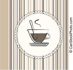 メニュー, コーヒー, カード
