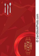 メニュー, デザイン, カード, テンプレート
