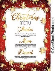 メニュー, デザイン, クリスマス