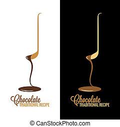 メニュー, デザイン, ラッパー, 背景, チョコレート