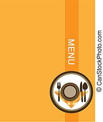 メニュー, デザイン, レストラン