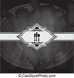 メニュー, デザイン, 黒板