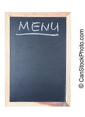 メニュー, 単語, 書かれた, 上に, 黒板