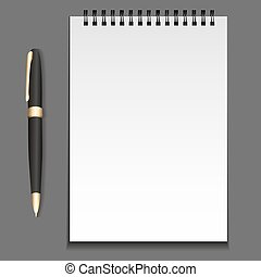 メモ用紙, 要素, ベクトル, テンプレート, pen., ばね