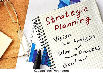 メモ用紙, 計画, 戦略上である