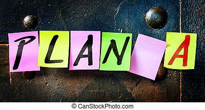 メモ用紙, 計画, noticeboard, テキスト, 概念, a, 旗, 計画, キャリア