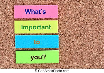 メモ, ある何が, 重要, 質問, あなた