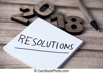 メモ, テキスト, resolutions, 2018