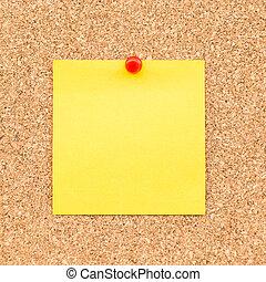 メモ, ブランク, text., 黄色, 付せん, スペース