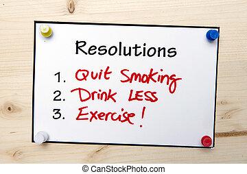 メモ, 新しい, resolutions, 年