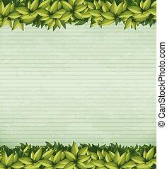 メモ, 植物, 緑, テンプレート, 自然