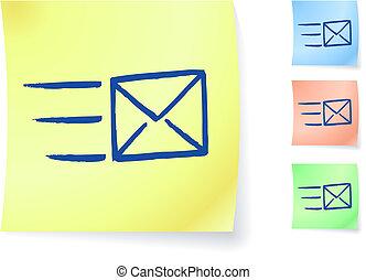 メモ, 電子メール, グラフィック, 付せん