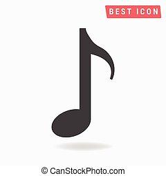 メモ, 音楽, vector., アイコン