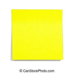 メモ, 黄色, 陰, 付せん