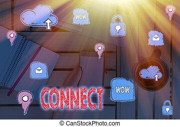 メモ, showcasing, communicate., 写真, connect., 仲間, ネットワーキング, 一緒に, 提示, ある, ビジネス, 執筆, 連絡, 関係をもちなさい