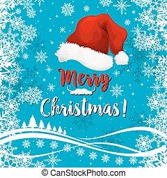 メリークリスマス, 休日, ベクトル, 雪, グリーティングカード
