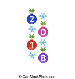 メリークリスマス, 新年おめでとう, グリーティングカード, 白, バックグラウンド。